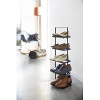 Prenosný stojan na topánky Yamazaki Tower Shoe Rack, vysoký / čierny