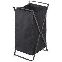 Skladací kôš na bielizeň Yamazaki Tower Laundry Basket, čierny