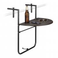 Balkónový závesný stôl Bastian skladací hnedý rd0054