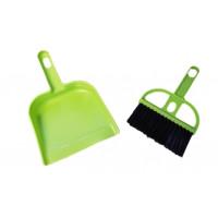 Mini metlička s lopatkou Eub 1427, zelená