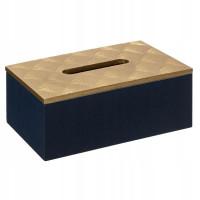 Krabička na papierové vreckovky Atmosphera 3444, čierno-zlatá