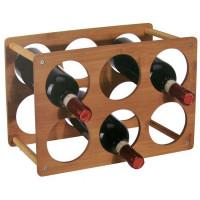 Bambusový stojan na víno pre 6 fliaš 4445, 35 cm