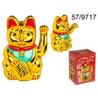 Čínska mačka pre šťastie XL Kemi 9717, zlatá