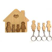 Domček so sadou kľúčeniek MIMI - rodičia a 2 dcéry