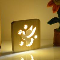 Drevená lampa AmbiWood 32654, holub