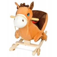 Plyšový hojdací a jazdiaci koník hnedý, ISOT4974
