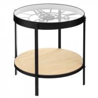 Konferenčný stolík s hodinami a poličkou Atmosphera Meca 7207, 50 cm