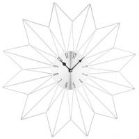 Nástenné hodiny Crystal Star silver, 50cm