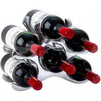 Kovový stojan na víno pre 6 fliaš 5501