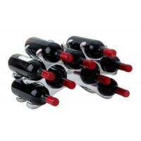 Kovový stojan na víno pre 9 fliaš 5506