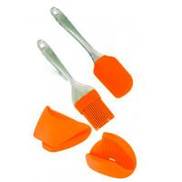 Kuchynské náradie 4 kusy, Euro Lady EL-4KHS, oranžová