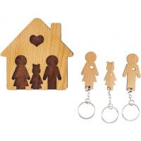 Domček so sadou kľúčeniek MIMI Rodina - rodičia, dcéra