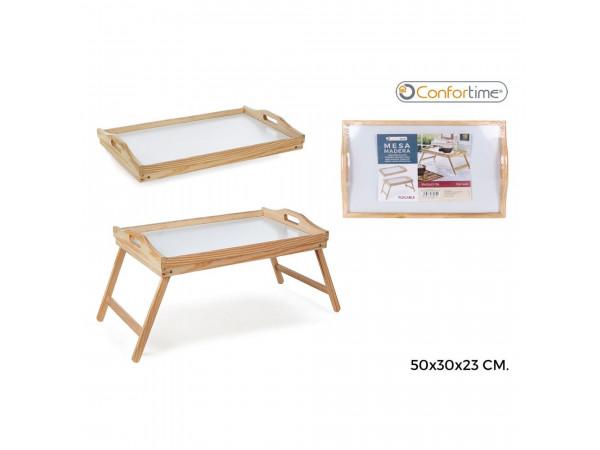 Skladací drevený stolík do postele, Confortime 50x30cm