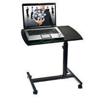 Prenosný stôl na notebook na kolieskach s nastaviteľnou výškou a uhlom GOTq44