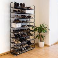 Botník pre 50 párov topánok, RD9127 čierny