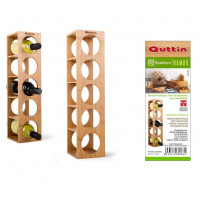 Bambusový stojan na víno Quttin 8086, 5 fliaš