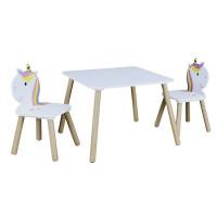 Detský stôl so stoličkami Lily Home deco factory HD6764, jednorožec