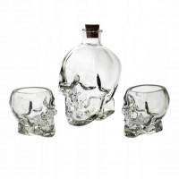 Karafa s pohármi v tvare lebky Secret de Gourmet 4693