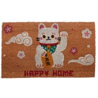 Kokosová rohožka pre šťastie Maneki Neko MAT55, 75 cm