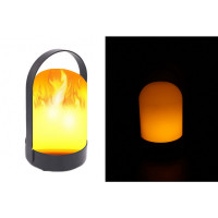 LED lampa s plameňovým efektom zent 0368