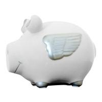 Pokladnička prasiatko s krídlami 6879, 13 cm