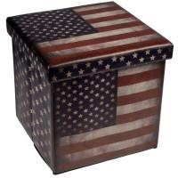 Skladacia taburetka s vekom USA Happy Home 0831